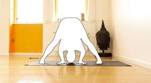 Yogamatte-Rutschfestigkeit-Beine